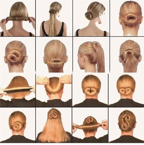 The Magic Bun Maker does more than just the standard bun. Check out the tons of different buns. Formal buns. Wedding buns. Beach buns. Everyday buns.