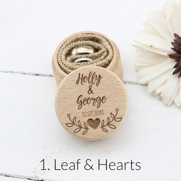 Heart Personalised Wedding Proposal Ring Box