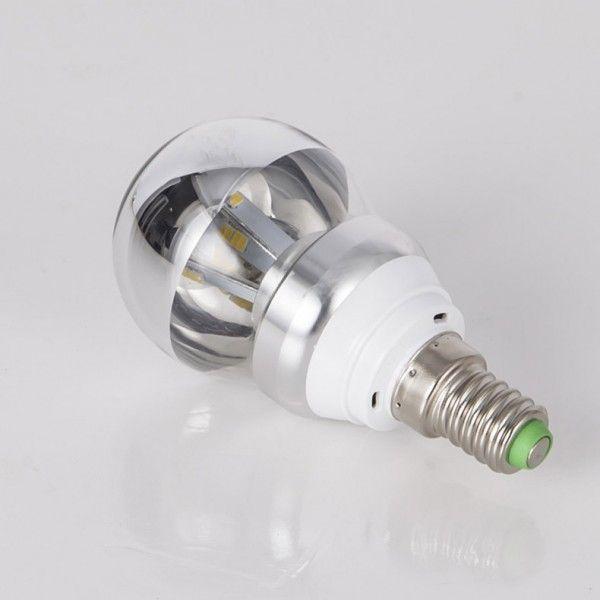 5W LED E14 Warm White Light Shadow Light Bulb in Half Chrome