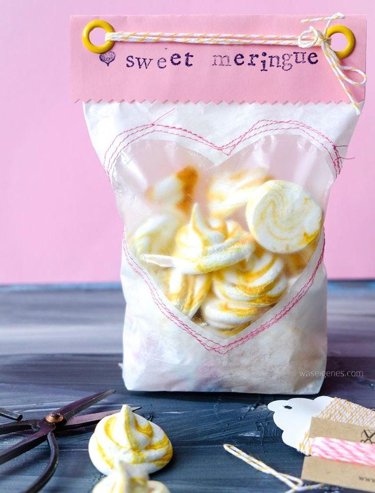 Geschenke aus der Küche: sweet meringue (Baiser) hübsch verpackt!