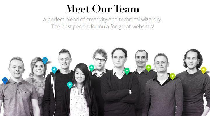 design company meet the team logo