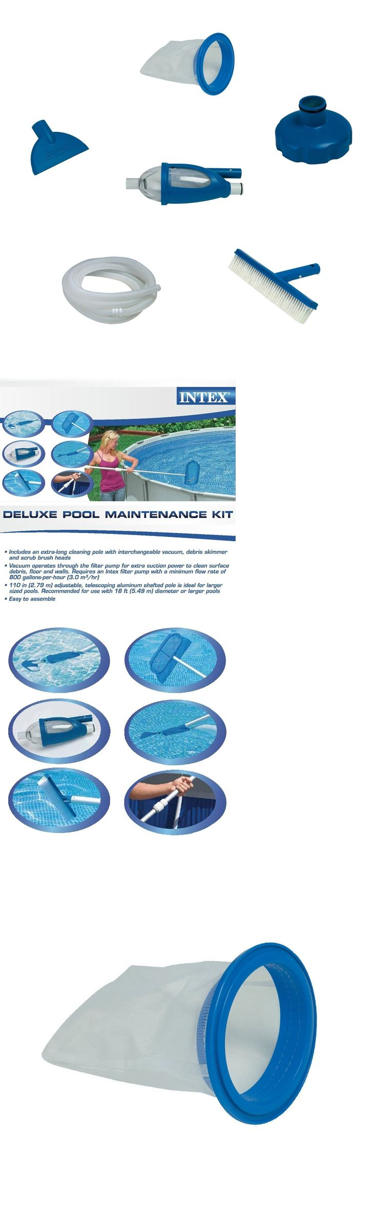 Other Pool Cleaning 181066: Pool Cleaning Maintenance Cleaners Accessories Supplies Kit Above Ground Vacuum -> BUY IT NOW ONLY: $52.31 on eBay!