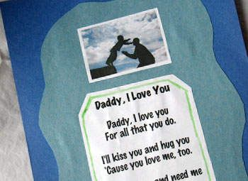 i love you daddy poem craft homemade fathers day gift