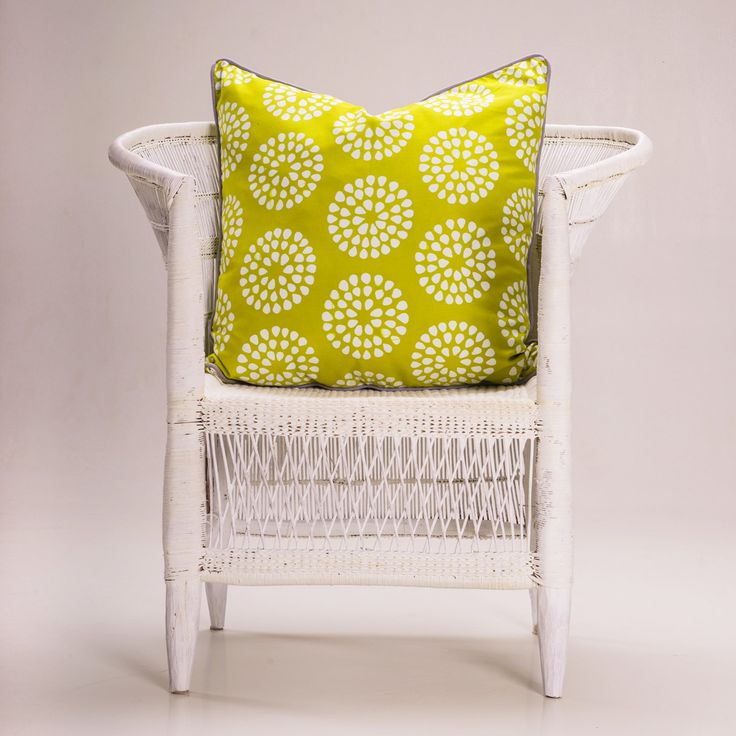Batik Cushion - 'Cebi Circles' Lime