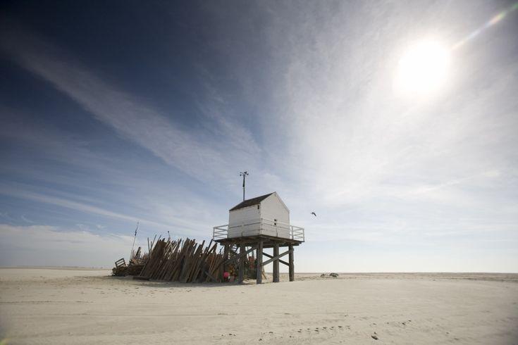 Het reddershuisje op Vlieland. Helaas ter plekke de Cache niet kunnen vinden in 2011