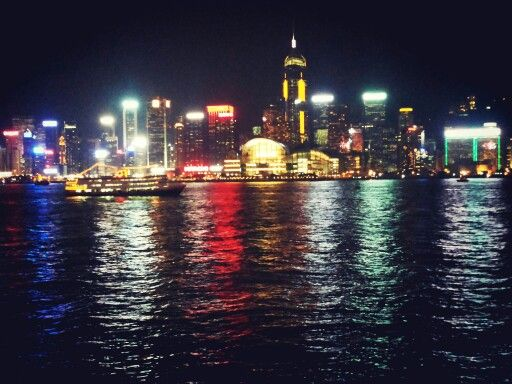Victoria Harbour 維多利亞港 in Victoria Harbour, Hongkong