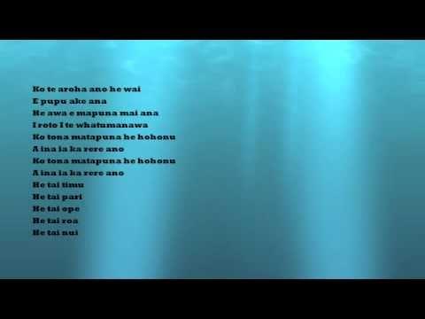 TAI AROHA- MAORI LOVE SONG