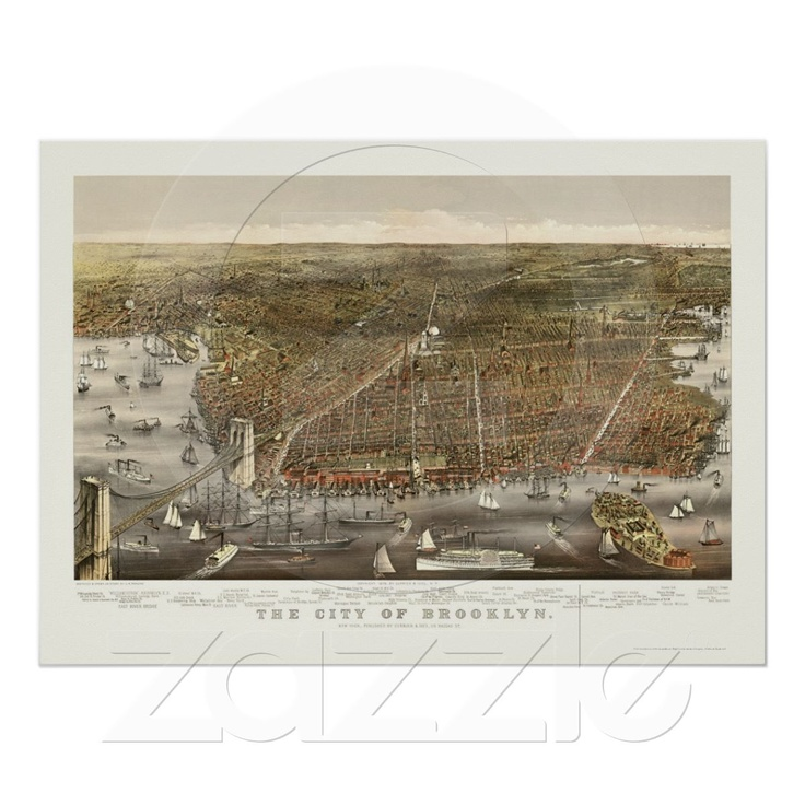 Washington Dc Popout Map%0A Brooklyn  NY Panoramic Map       Poster