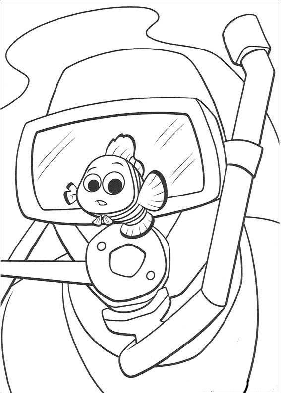 Disegni da colorare per bambini. Colorare e stampa Alla ricerca di Nemo 11