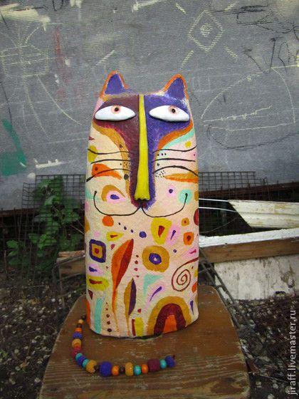 Волшебный кот - кот,котики,котик,кот в подарок,Папье-маше,дерево,папье-маше