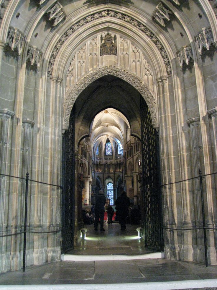 The entrance into the quire from the crossing