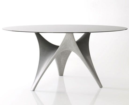 Arc Table by Foster + Partners: Made of Ductal (concrete and organic fibers)