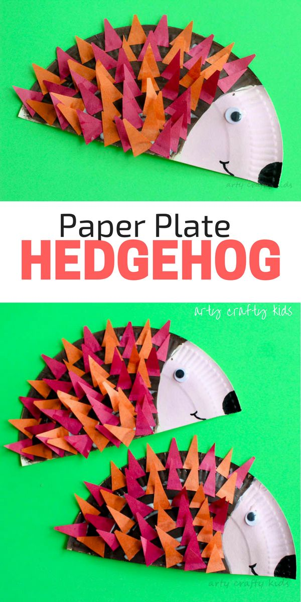 Arty Crafty Kids | Craft | Paper Plate Hedgehog Craft | Super cute Hedgehog craft for kids. Perfect for Autumn crafting and woodland animal topic at preschool. #animalcraft #kidscraft
