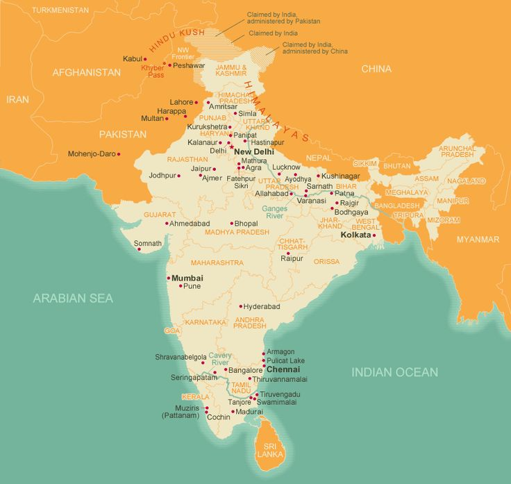 15 best india mumbai images on pinterest bombay cat mumbai and a map of india and surrounding countries it helps to know the geography so gumiabroncs Choice Image
