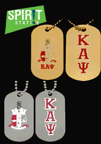 Kappa Alpha Psi Double Sided Dog Tag