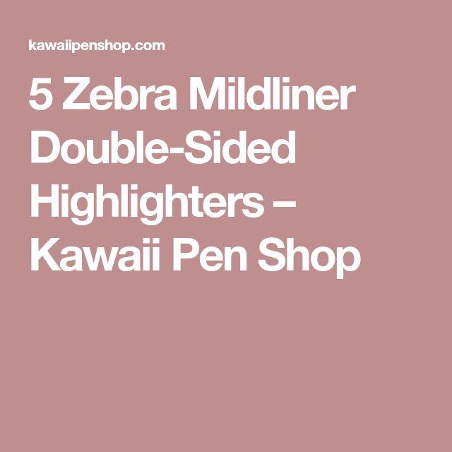 5 Zebra Mildliner Double-Sided Highlighters – Kawaii Pen Shop