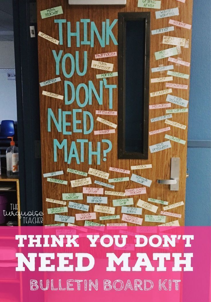Math talks for elementary students when they ask why is math important. Great for elementary classroom door decor, bulletin boards, wall quotes, wall decor and more! Interactive, add your students ideas throughout the year! Print and Go!