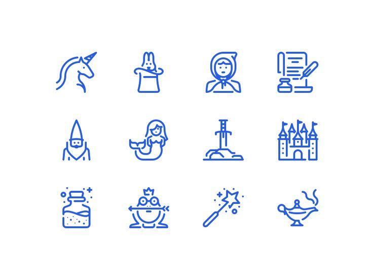 Fairy tales icons by Dmitriy Mir