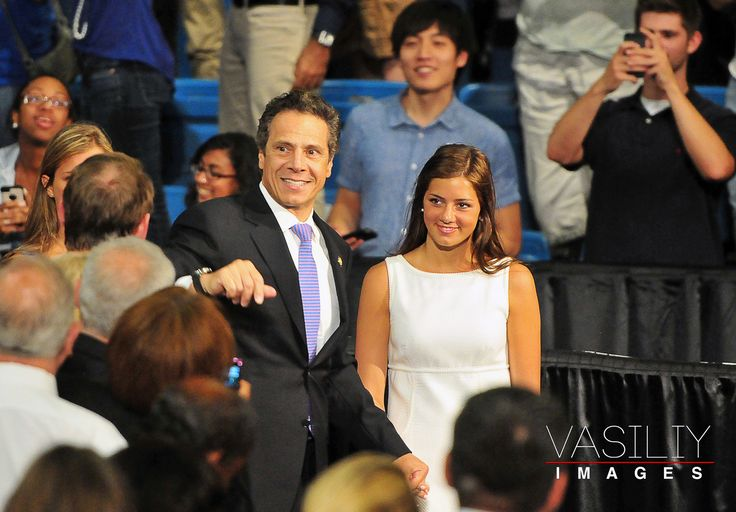 Andrew Cuomo Daughters | New York State Governor Andrew Cuomo arrives with daughter Cara Cuomo ...