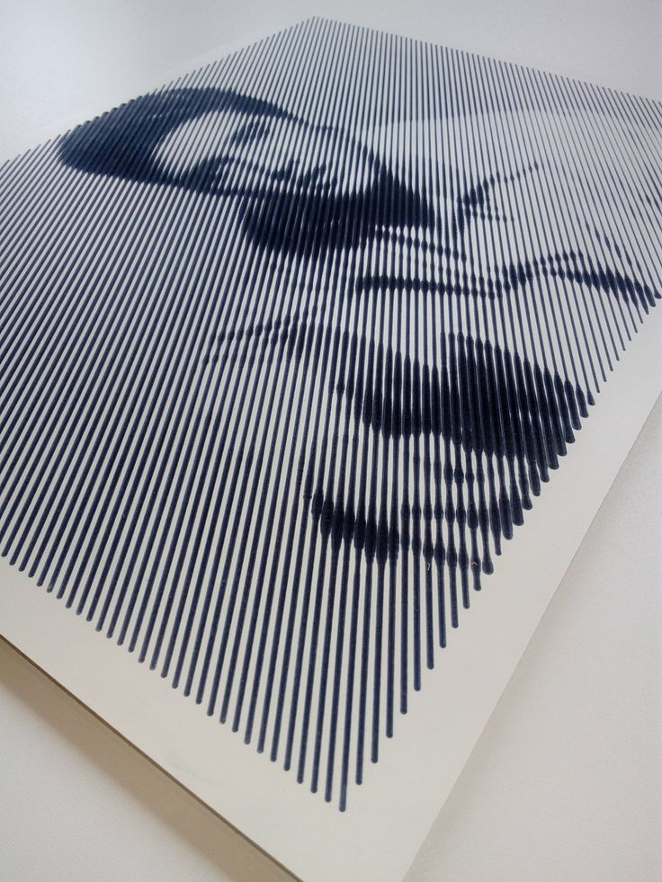 Halftone Picture! laminated plywood. Cnc Black and white. Elvis