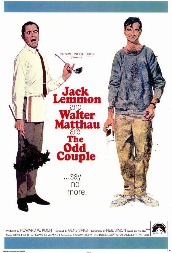 The Odd Couple (1968): Movie Posters, Walter Matthau, Neil Simon, Couple Movie, Odd Couple, Couple 1968, Jack Lemmon, Favorite Movie, Favorite Film