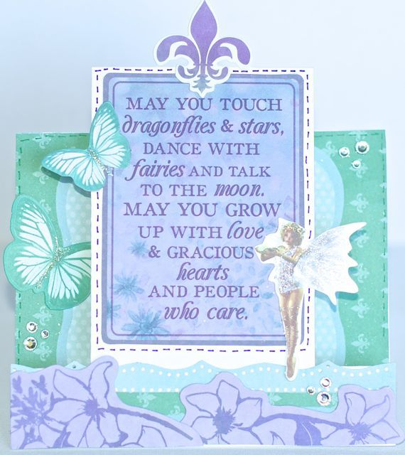 A step card by Kelly-ann Oosterbeek made using the Fairy Dust Collection from Kaisercraft. www.amotehrsart.com.au