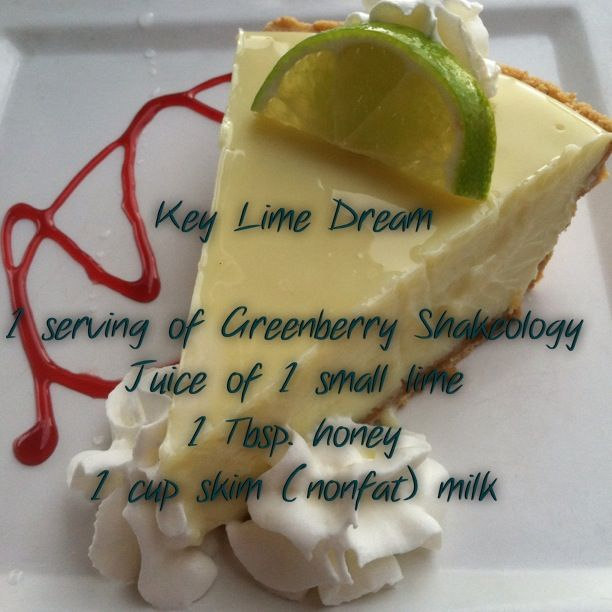 Key Lime Dream with Greenberry Shakeology! www.todaygetfit.com