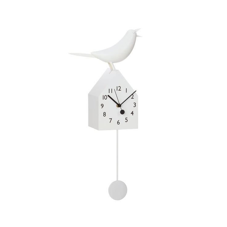 This motion clock takes a typical birdhouse clock to a more chic, modern level. Watch this bird tick fashionably on your kitchen or living room wall. Its pendulum can also be removed for a more refined...  Find the Modern Cuckoo Clock, as seen in the 3 Secrets for Mixing Rustic & Mid-Century Collection at http://dotandbo.com/collections/3-secrets-for-mixing-rustic-and-mid-century?utm_source=pinterest&utm_medium=organic&db_sku=98373