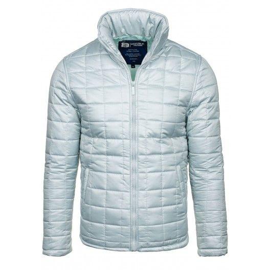 Pánská zimní bunda bez kapuce bílé barvy - manozo.cz