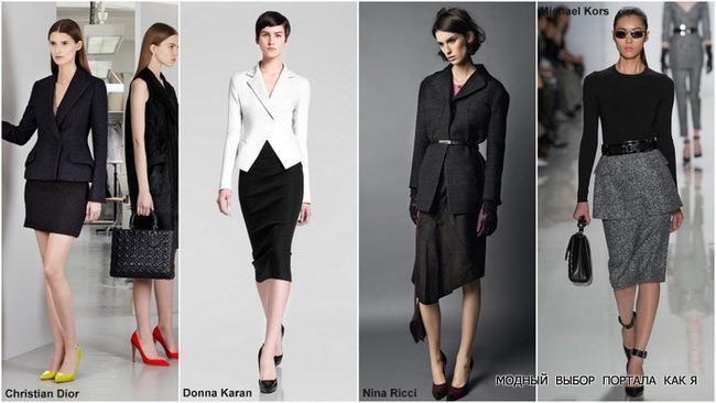 Костюмы женские пиджак юбка