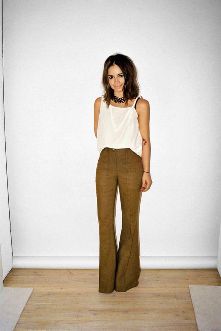 cute outfit! love these mustard colored flared pants