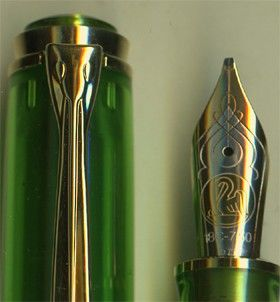Pelikan M800 Green Demonstrator Limited Edition Fountain Pen