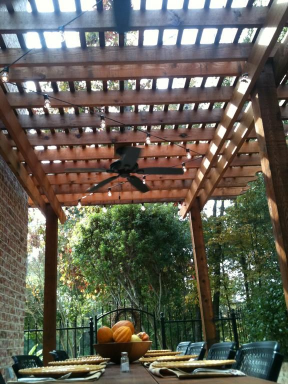 Pergola and fan over part of dock www westernpatiocompany for Parts of a pergola