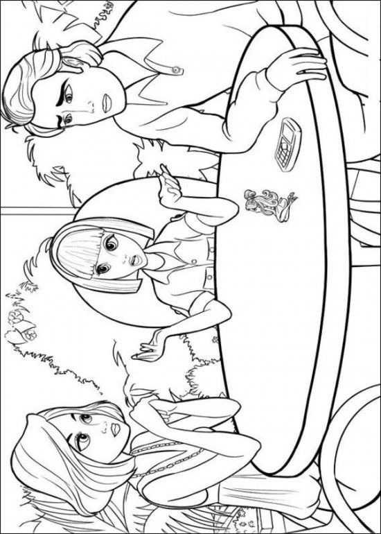 32 best barbie coloring book images on pinterest drawings Thumbelina Mrs Rabbit Barbie Coloring Online dltk coloring pages