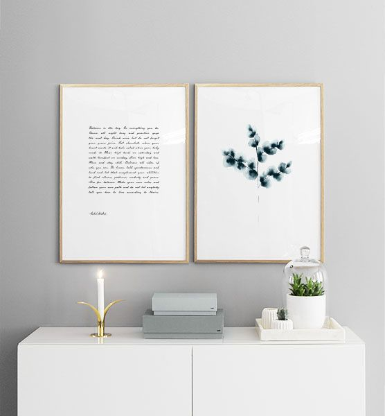 Inspiration with matchning posters in picture collage | Posters Uk online