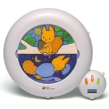 Veilleuse indicateur de réveil Écureuil - Pour que l'enfant sache quand il est l'heure de se lever Un réveil/veilleuse pratique et très malin Apprendre aux petits à rester au lit Réveil normal pour les plus grands
