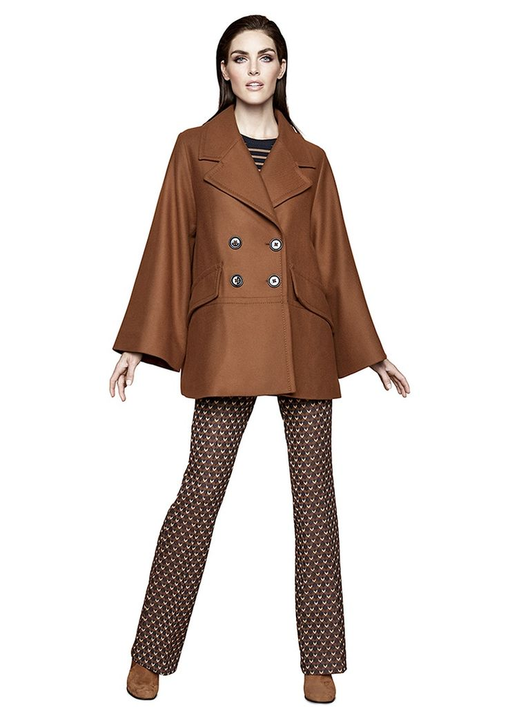 Relaxed Retro |  Lady | womenswear | Fashion | cape | premium | cognac | PKZ | buy here --> goo.gl/FG72ZV