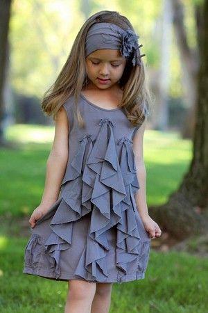 vertical ruffle dress .