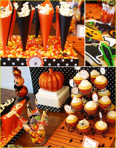 halloween party orange and black halloween pinterest. Black Bedroom Furniture Sets. Home Design Ideas