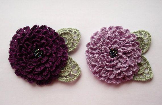 lilas au crochet Fleur broche broche de lilas au par SuzieSue1972