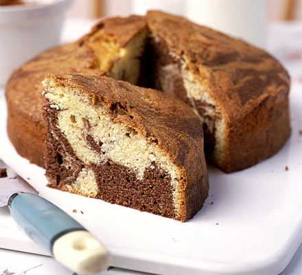 To make yummy chocolate marble cake recipe is easy and also quick, you need only maximum 45 minutes to make this. What is marble cake anyway? A marble cake is a cake with a marked or spotted appear...
