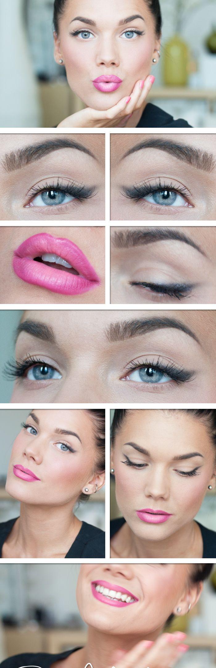 Maquillaje natural, enfocado en los labios, solamente necesitas tu base, blush…
