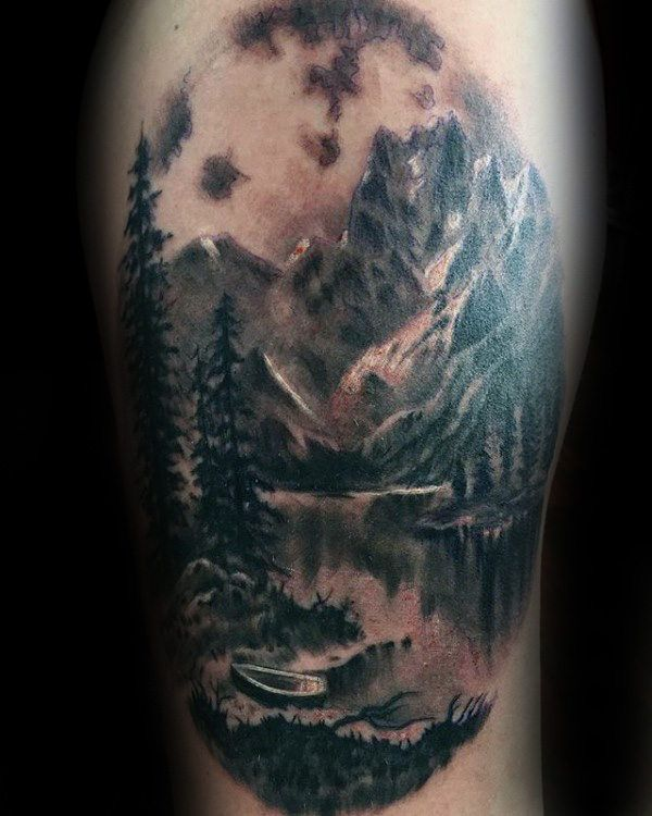 27 Awesome Picturesque Landscape Tattoo Designs: 25+ Best Ideas About Lake Tattoo On Pinterest