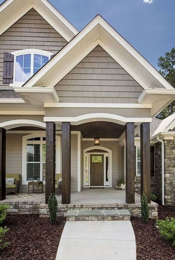 56 best Bungalow with siding and masonry images on ... on Modern House Siding Ideas  id=24850