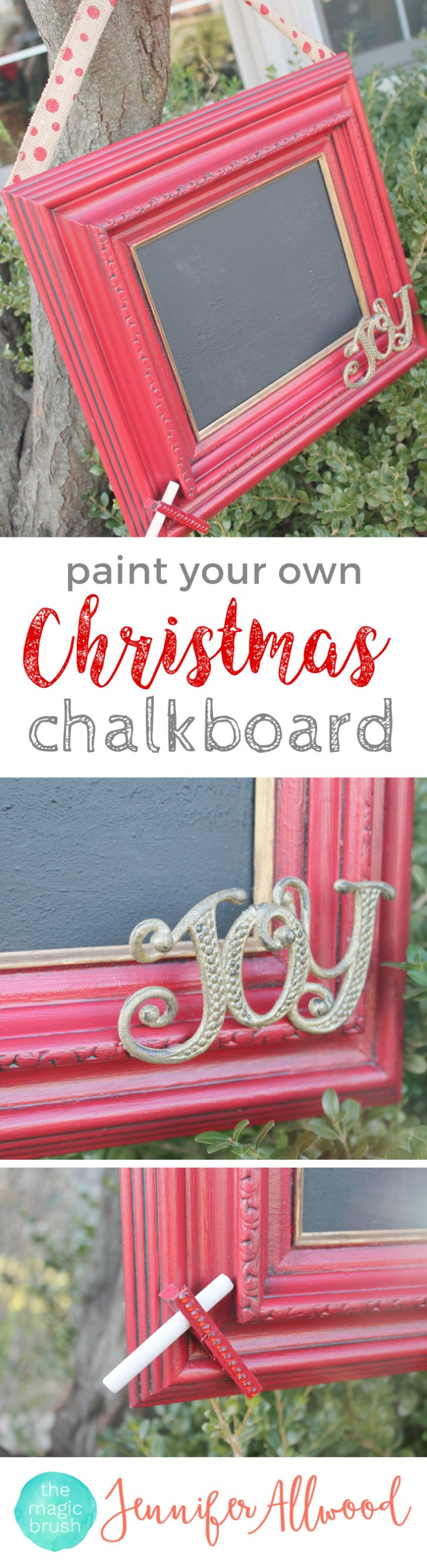 Diy Christmas Chalkboard Sign - The Magic Brush - These