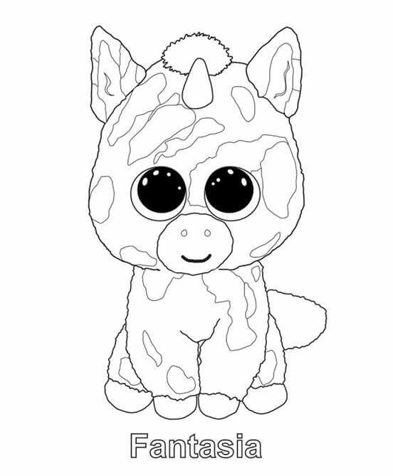 bunny beanie boo coloring pages - photo#25
