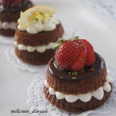 Meyveli porsiyonluk pastalar,