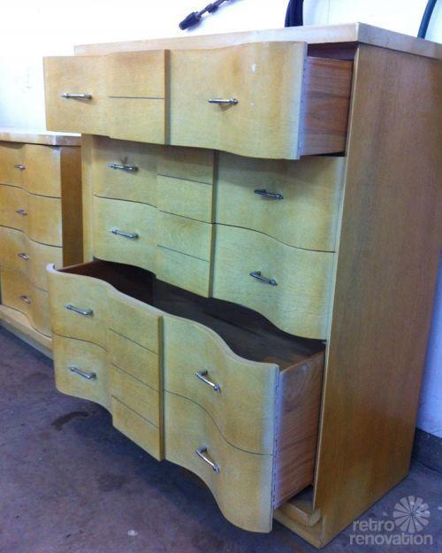 Jeff And Debbie 39 S 39 Trash To Treasure 39 Blonde Vintage Furniture Makeover Vintage Furniture And