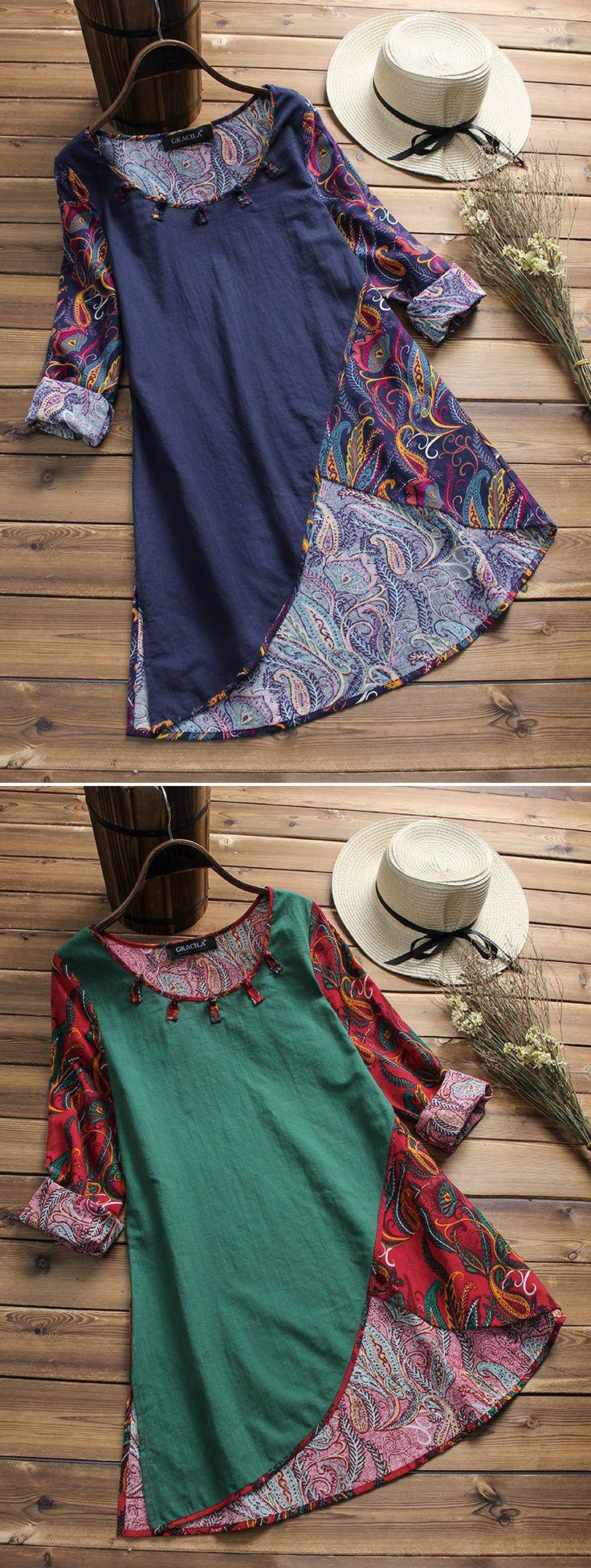 UP TO 51% OFF! Women Printed Patchwork Irregular Hem Vintage T-shirts. SHOP NOW! -… - https://sorihe.com/blusademujer/2018/03/29/up-to-51-off-women-printed-patchwork-irregular-hem-vintage-t-shirts-shop-now-2/ #women'sblouse #blouse #ladiestops #womensshirts #topsforwomen #shirtsforwomen #ladiesblouse #blackblouse #women'sshirts #womenshirt #whiteblouse #blackshirtwomens #longtopsforwomen #long tops #women'sshirtsandblouses #cutetopsforwomen #shirtsandblouses #dressytops #tunictopsfor women…