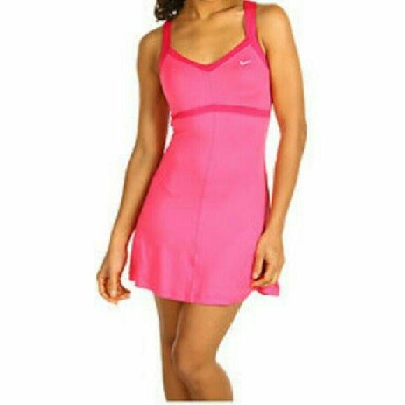 1 HR⚡Nike tennis dress Pink Nike tennis dress with built in bra. 88% polyester, 12% spandex. Nike Dresses